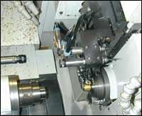 Swiss-type lathe with air spindles