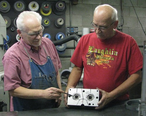 Tony Morella and Jim Stafford of Le Bac Plastic Mold