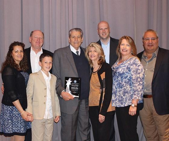 Taormina Award Winner Bob Sica  with his family.