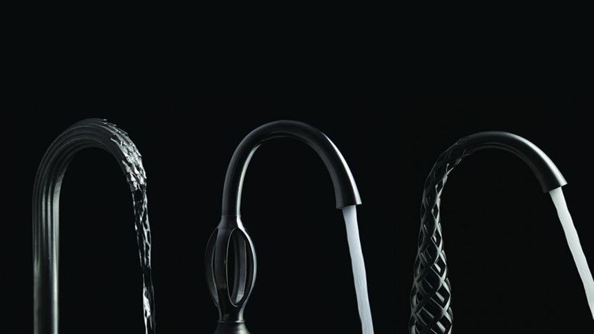 DXV Shadowbrook, Trope and Vibrato 3D-printed faucets