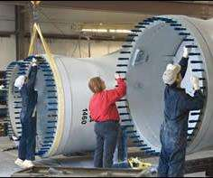 The sheer size of wind blades