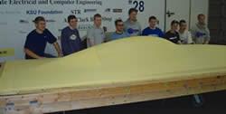 The staff from KSU's Solar Race Team
