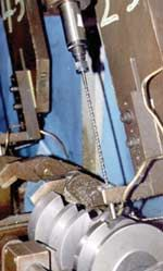 The waterjet cleaning machine also removes burrs.
