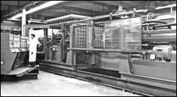 This first Uniloy-Springfield structural-foam machine