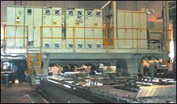 Three-spindle gantry machines