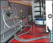 Tidy, accessible arrangement of utilities
