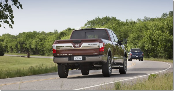 2016 Nissan TITAN XD equipped with the 5.6L Endurance V8