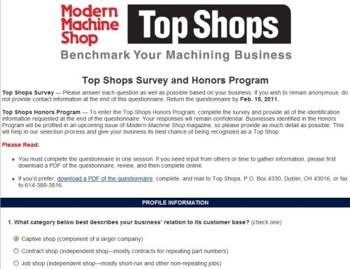 benchmarking survey