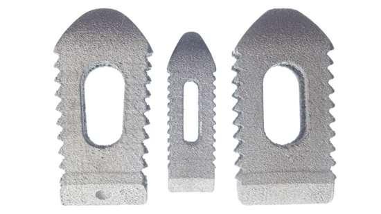 Stryker Spine Tritanium PL cage showing teeth