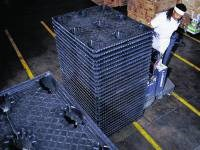 Twin-sheet thermoformed pallets