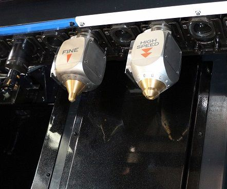 two laser cladding heads
