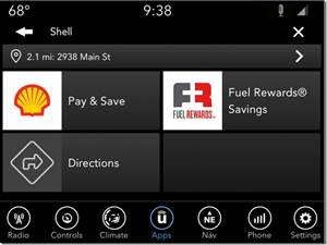 FCA Adds Uconnect Market: Shopping on the Road