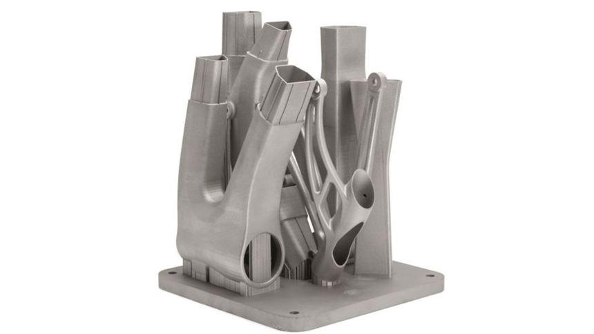 Metal 3D-printed bike frame