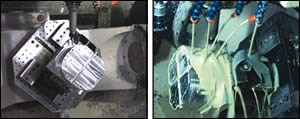 Various stages of the machining cycle