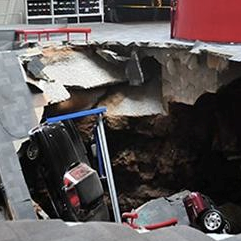 Sinkhole Swallows 8 Cars from Corvette Museum