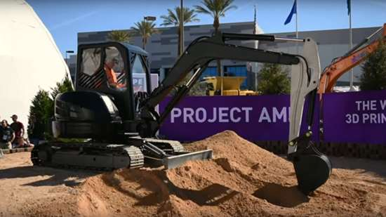 3D-printed excavator