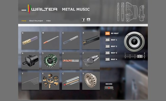 Walter Metal Music website