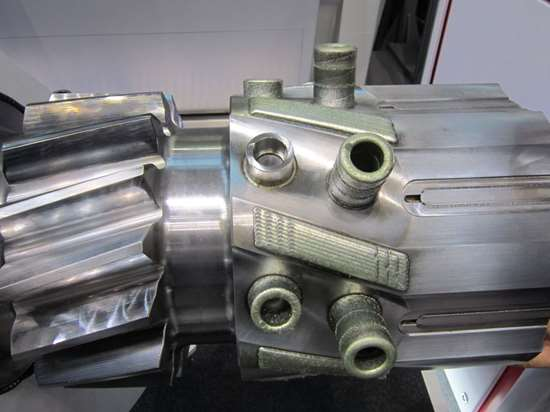 Machined in place