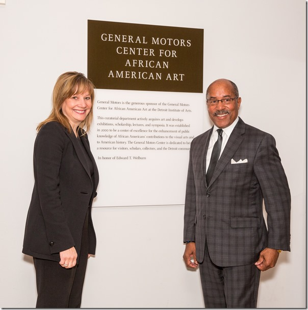GM Honors Ed Welburn With Re-dedication Of GM Gallery At DIA
