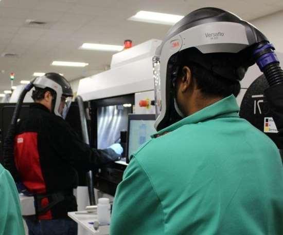 UL AMCC students hands-on training