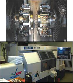 When this turn-mill machine runs