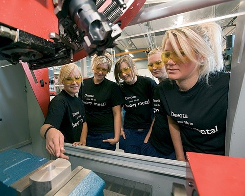 female machining students