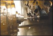 Driven tools on the turret of X-L's CNC lathe