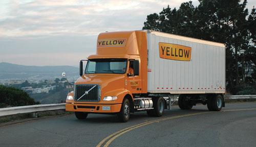 Yellow frieght truck