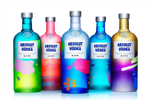absolute vodka botles