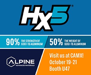 Alpine Advanced Materials将参加CAMX