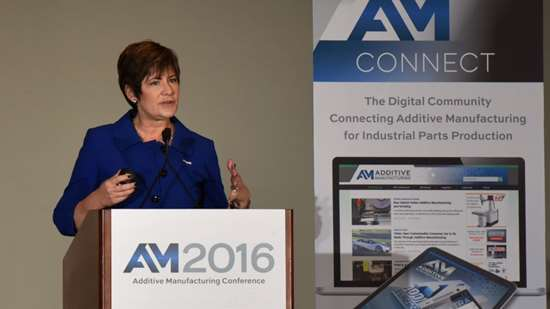 Caterpillar additive manufacturing product manager Stacey DelVecchio