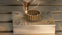 Laser deposition process