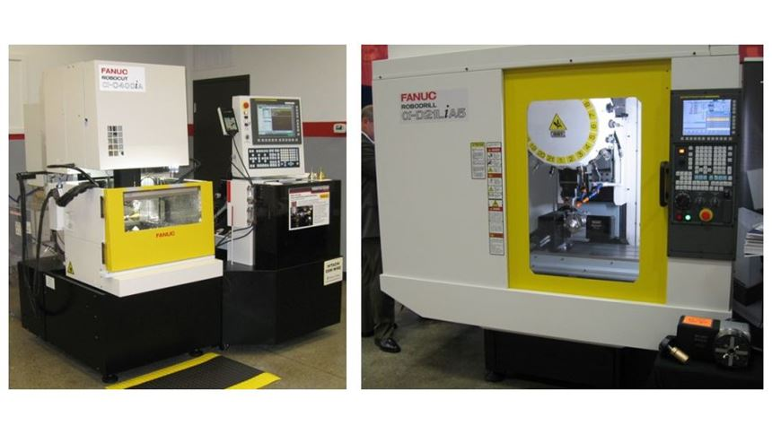 FANUC wire EDM and five-axis machining center