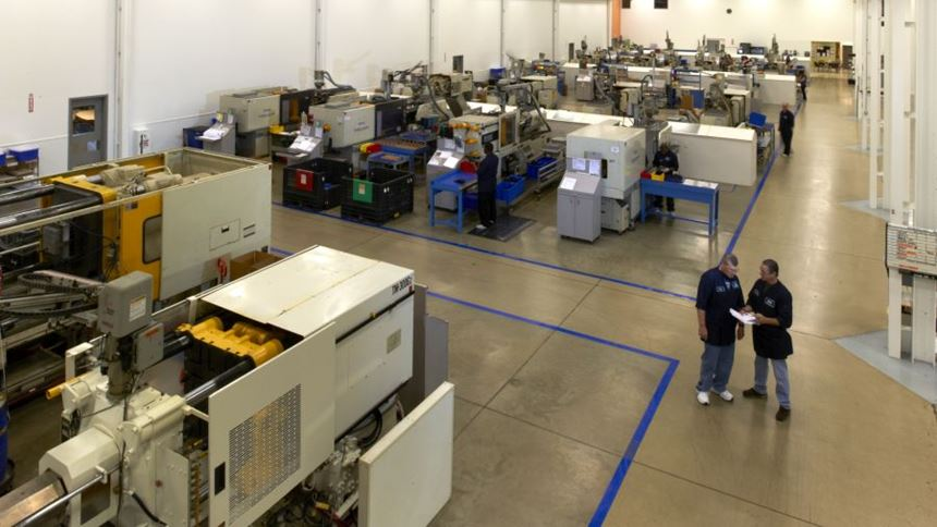Injection molding machines at PTI