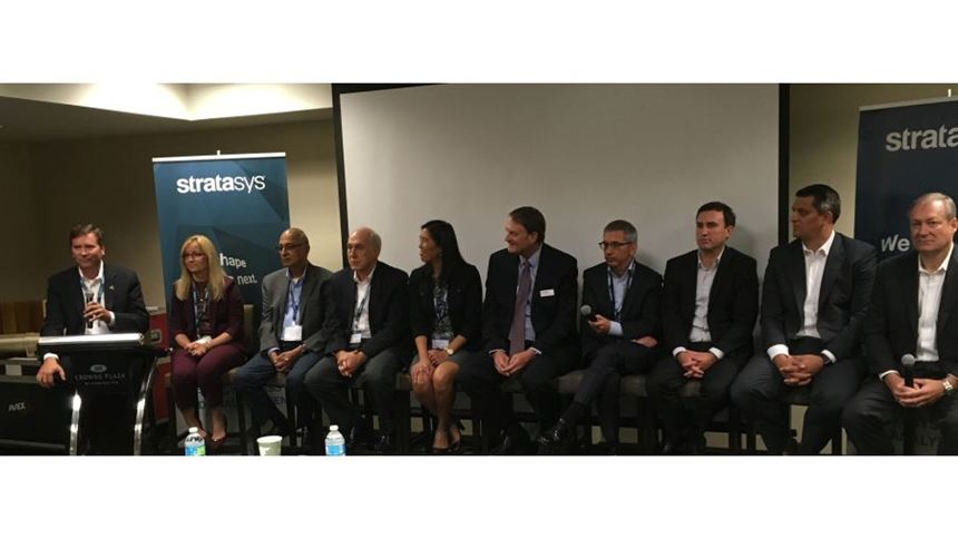 Representatives of Stratasys, Boeing, Ford and Siemens