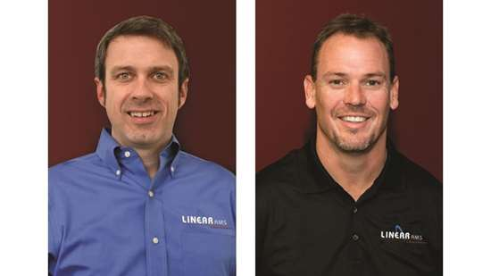 David Hodge, general manager of Linear AMS; John Tenbusch, Linear founder and vice president