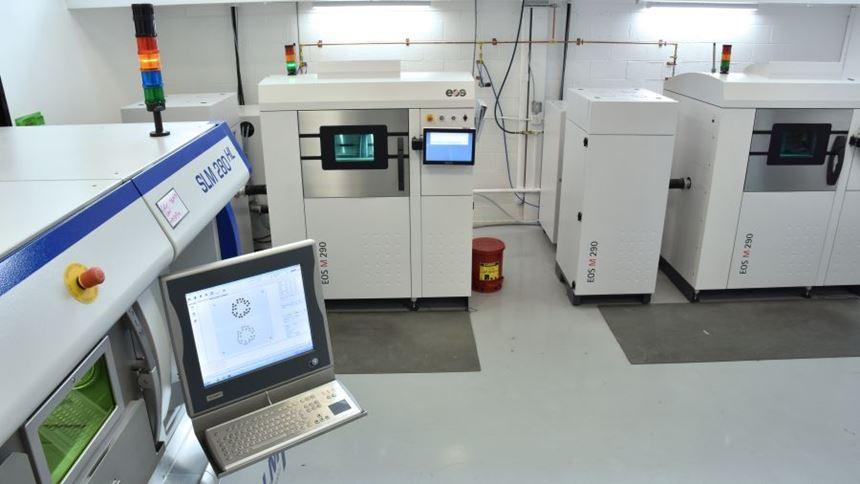 Direct metal laser sintering machines at Linear AMS