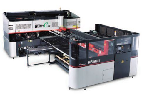 Amada's LC-C1 NT series high-performance punch/laser combination machine