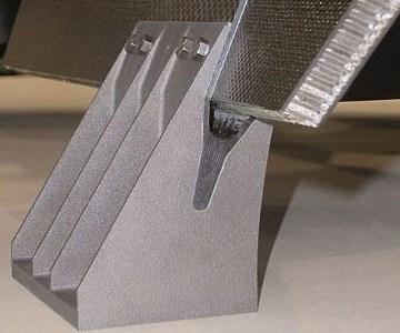 3D printed bracket in use