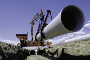 Installation of an Ameron FRP pipe