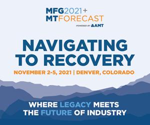 An ad for MFG/MTF 2021 in Denver, Colorado.
