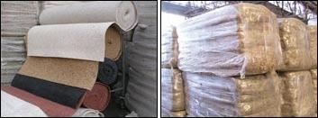 Baled fiber separated by resin type