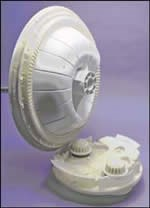 Bevel gear for a washing-machine transmission