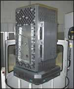 blank workpiece on the pedestal fixture
