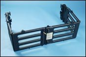 Blow molded glass/PP stowable bed extender