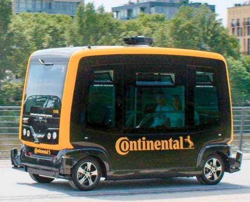 """The """"CUbE"""": Continental Urban mobility Experience. Conti has taken its various automated driving tech and is putting it to work in a vehicle that it is testing out at its Frankfurt facility."""