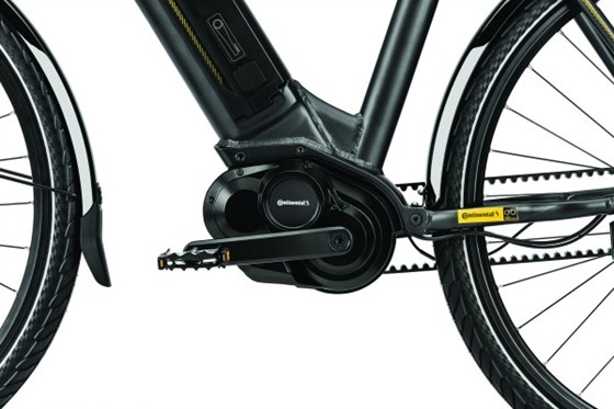 Yes, Conti has even developed a 48-volt motor for bikes. But what makes this one different is that there is also a continuously variable planetary gearing system in that housing: yes, a transmission.
