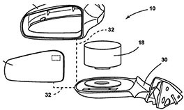 Ford Patents Design that Houses Lidar in Side Mirrors