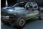 GM Teases Fuel Cell Pickup Truck for Military