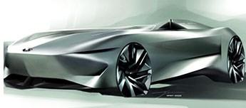 Infiniti Sketches Sleek Concept EV